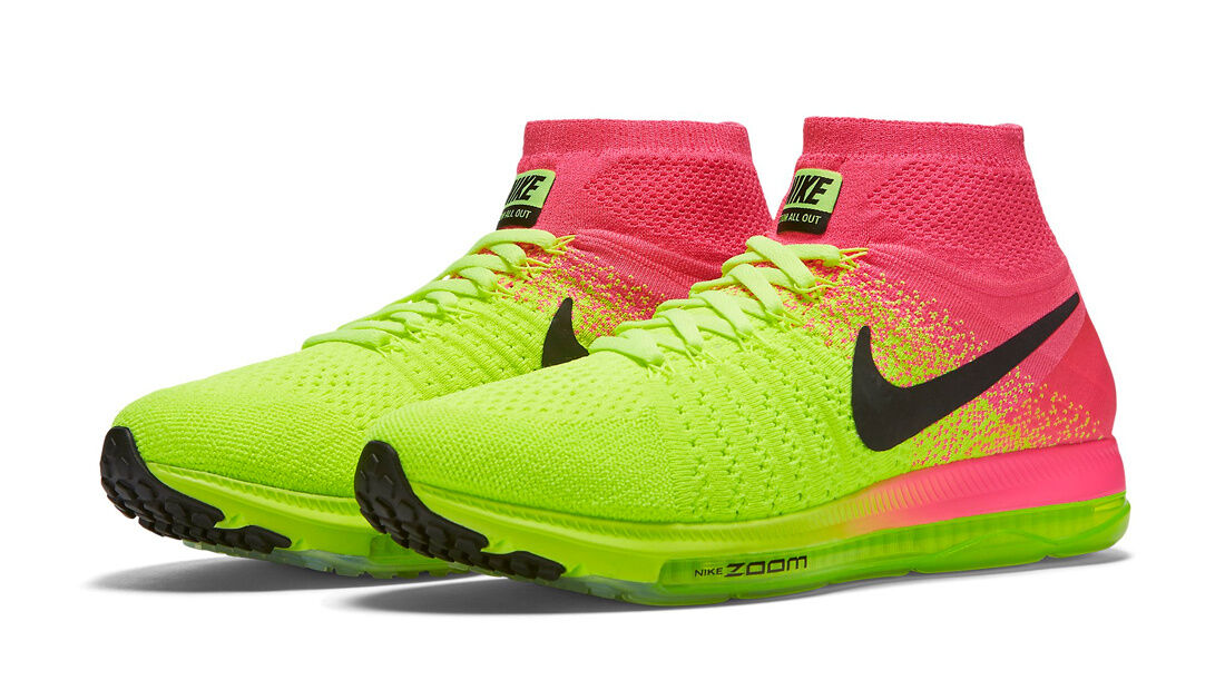 200 NIB Women's Nike Nike Zoom All Out Flyknit  shoes 845716-999