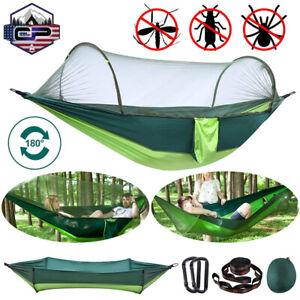 Pop-up Camping Hammock Bug Mosquito Net Portable Parachute Nylon Hanging Swing