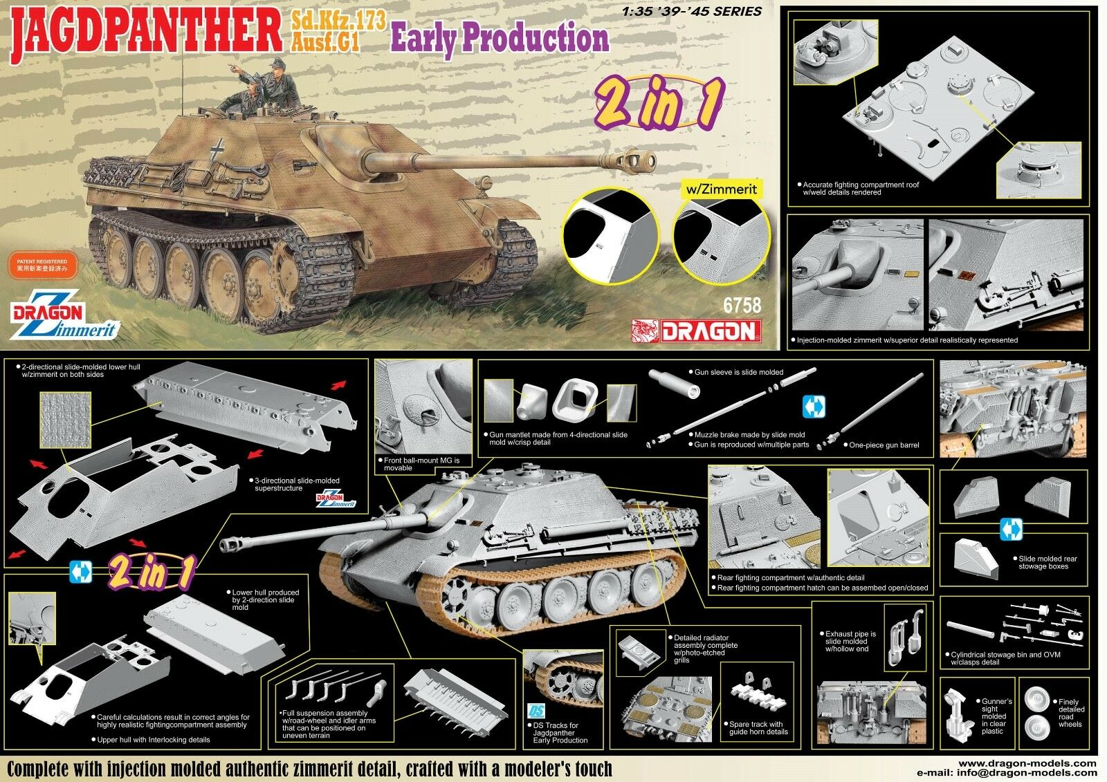 1  35 drake Sd.Kfz.173 Jagdpanther G1 Early Production (2 i 1)