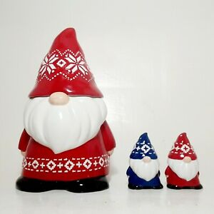 Bico-Red-Christmas-Gnome-11-inch-Air-Tight-Cookie-Jar-with-Salt-and-Pepper-Set