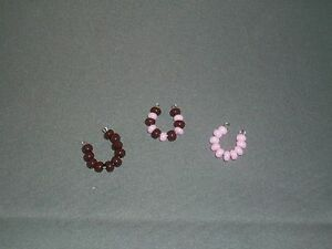 HANDMADE Littlest Pet Shop Necklaces-Set of 3- Strawberry Fudge -Brown/Pink-NEW