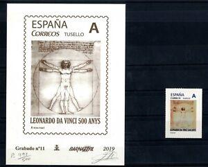 Grabado-Barnafil-2019-n-11-Leonardo-Da-Vinci-mas-sello-personalizado-Espana