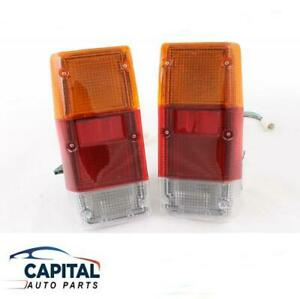 Pair of Tail Lights set Left & Right for Nissan Patrol MQ MK W160 Wagon 1980-87