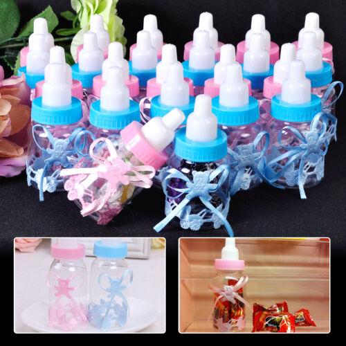 12 stk Babyflaschen Gastgeschenke Milchflasche Taufe Geburt Tischdeko Babyshower