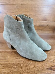 bone suede cut out booties  6.5
