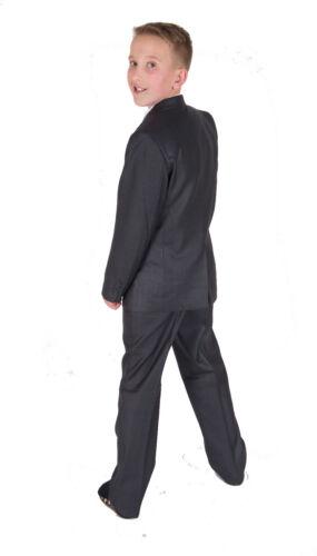 Dark Grey Formal Boy Suit Wedding Page Boy Party Prom 5 Piece Suit 2-12 Years