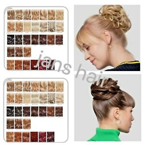 Stranded-Large-Hair-Scrunchie-Flicky-Wavy-Curly-Hairpiece-Wrap-Messy-Updo-Bun
