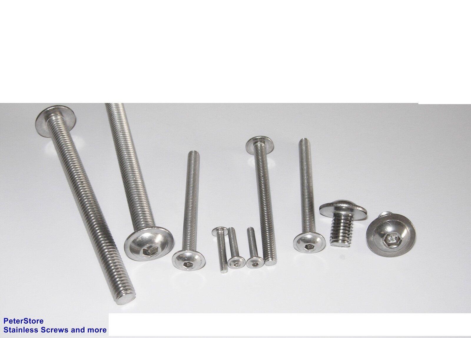 Linsenkopfschrauben Edelstahl VA ISO 7380-2 ISK + FLANSCH M8  Flanschschrauben     | Qualität Produkt