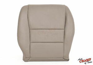 2003 2007 honda accord 4dr driver side bottom replacement leather seat cover tan ebay. Black Bedroom Furniture Sets. Home Design Ideas