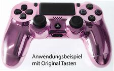 Neu Playstation PS4 Controller Case Hülle Gehäuse Chrome Modding Cover Lila