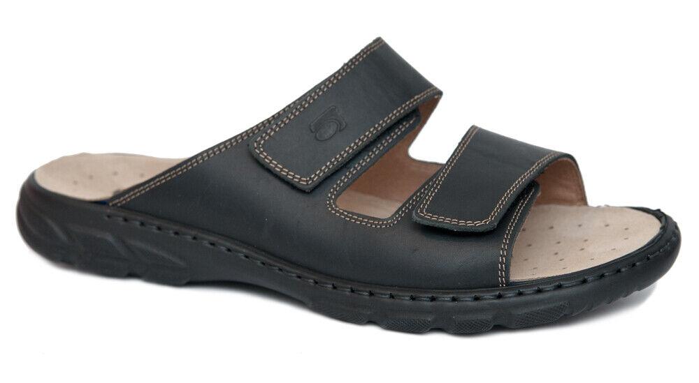 Rohde CAMPO Herren Sandalen schwarz Leder Klett Art. 6502-90 f. Einlagen NEU