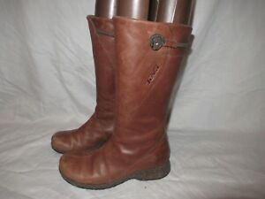 0e2f481bedcdd0 Teva Cigar Brown Leather Boots 4027 MONTECITO Button Zipper Women s ...