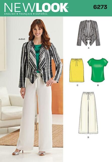 LOOK 6273 Sewing Pattern Uncut Miss Womens Ladies Jacket Top Pants ...