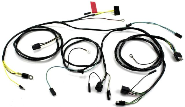 1966 ford mustang head light lamp wiring harness feed to