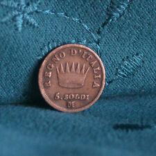 Kingdom of Napoleon 1813 Italian States 5 Soldi Silver World Coin Italy