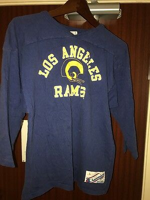 Vntg 70s-80s LA Rams Original Champion Jersey Shirt Old Label USA Made Szl