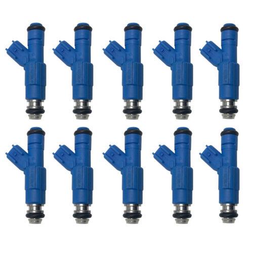 10pcs 24LB NEW OEM BOSCH Fuel Injectors For 2000-2004 Ford F-450 Super Duty 6.8L