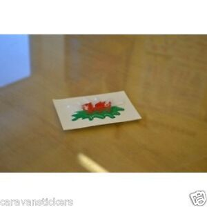 Welsh Flag Laminated Stickers Small 12x 45x22mm Wales motorbike Decals