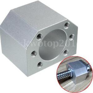 Aluminum-Silver-Ballscrew-Nut-Housing-Bracket-Holder-Dia-28mm-For-1604-1605-1610