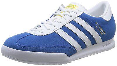 100% Vero Adidas Originals Beckenbauer Allround Scarpe Da Ginnastica Blu/bianca Da Uomo Uk- In Vendita