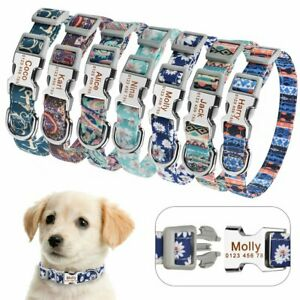 Personalized-Dog-Collar-Durable-Nylon-Puppy-Dogs-Pet-Name-Free-Engraved-Collars
