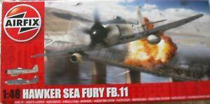 +++ Hawker Sea Fury Fb.11 + 1:48 Scale Kit Par Airfix +++-afficher Le Titre D'origine