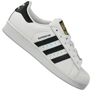 Détails Baskets Sur Chaussures Crocodile Cuir Animal Blanc Originals Adidas Superstar S75157 6yvYfbI7g