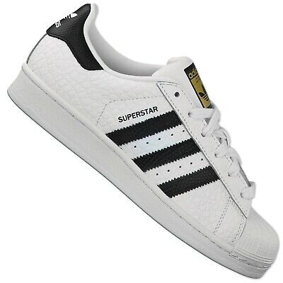 Adidas Originals Superstar Animal S75157 Trainers Shoes Crocodile Leather White   eBay