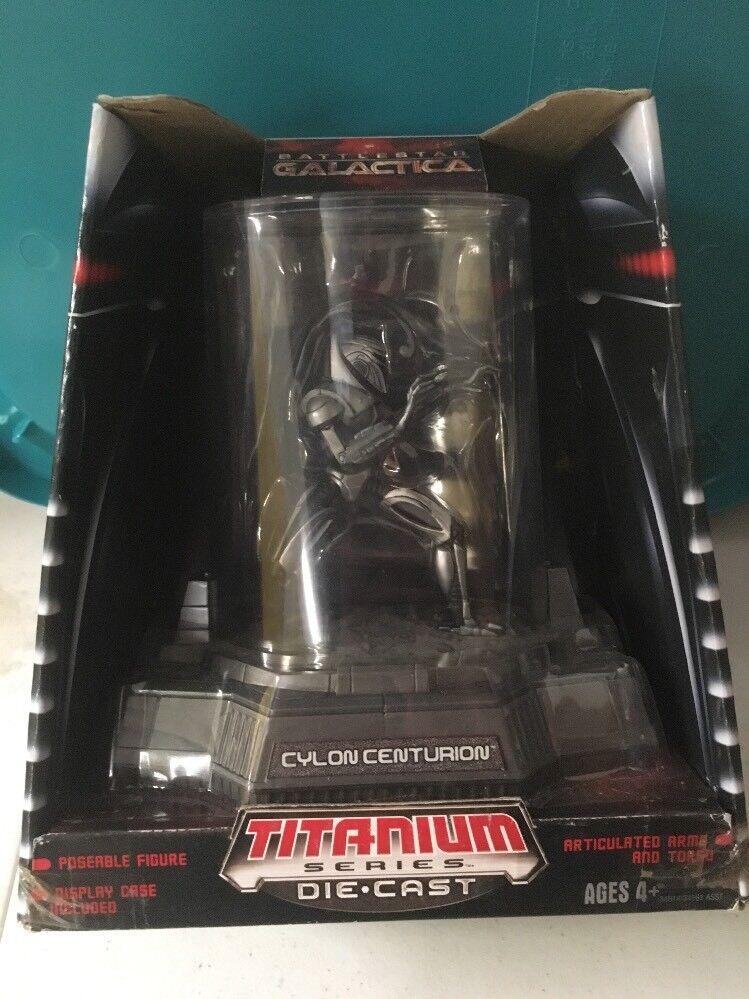 Cylon Centurion Titanium Series Die-Cast Die-Cast Die-Cast Battlestar Galactica Display 2006 MINT af89f3