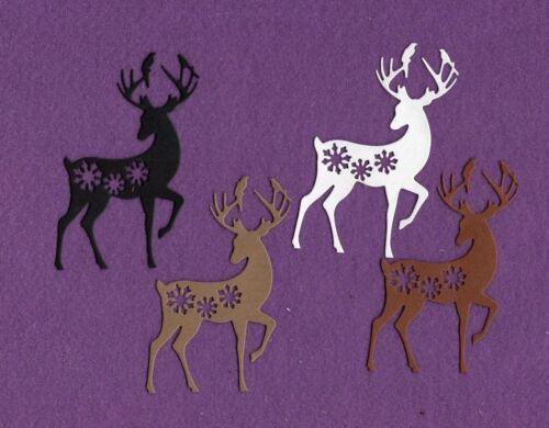 REINDEER SNOWFLAKE  die cuts scrapbook cards