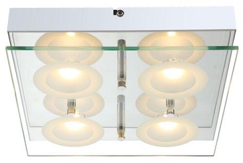 Globo LION LED plafond éclairage luminaire plafonnier lampe de chrome//verre 4x5w 4941200-4