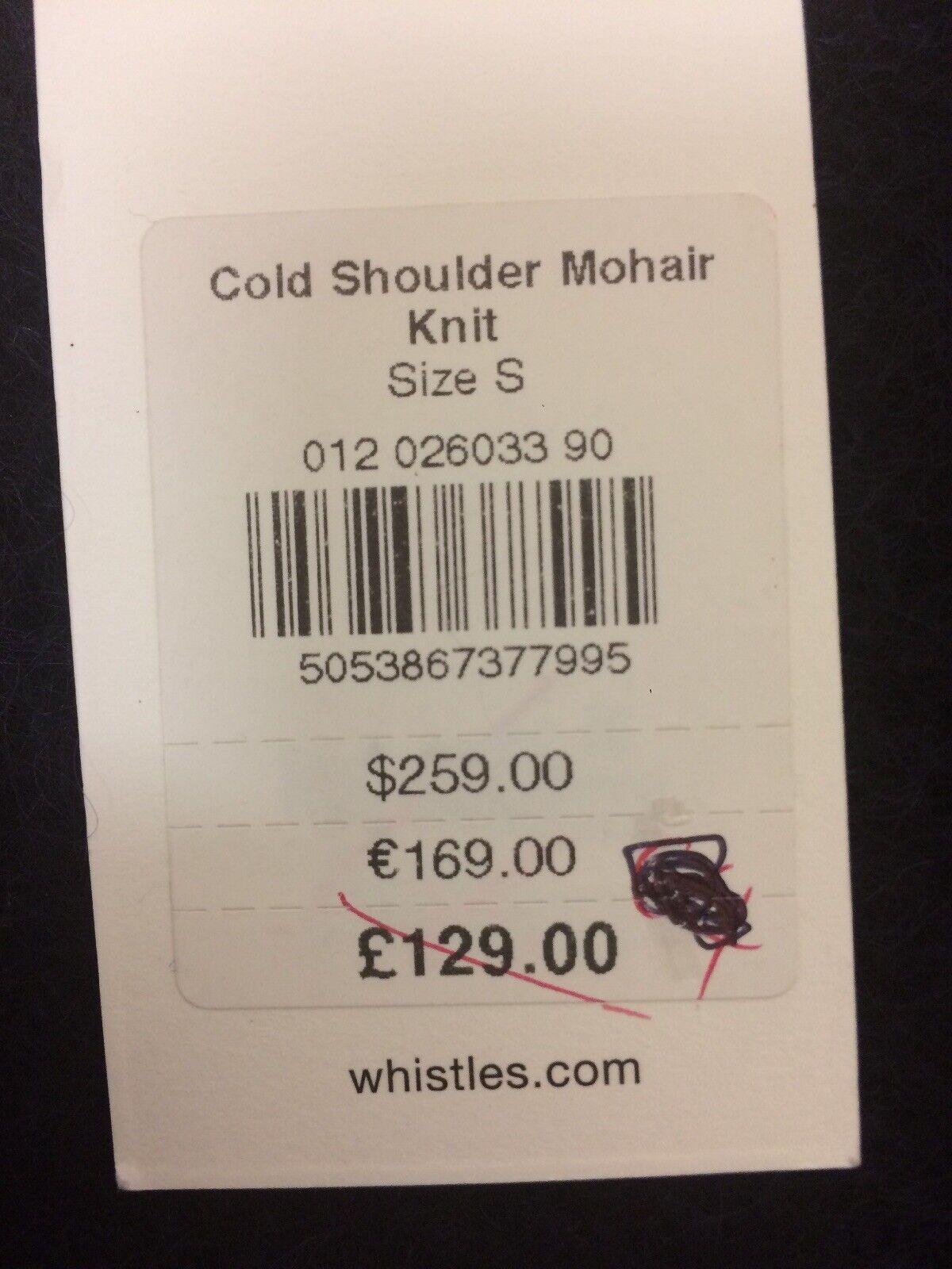 WHISTLES Cold Shoulder Mohair Knit Size S RRP RRP RRP  Box E131 8b9efa