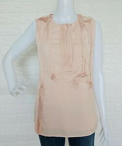Calvin-Klein-Sleeveless-Fashion-Tops-Zipper-closure-at-left-side-size-Small
