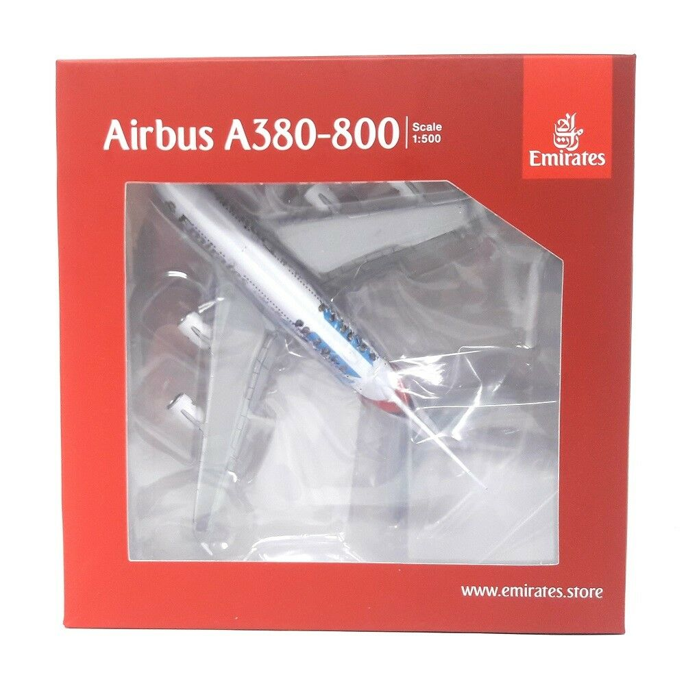 Airplane Herpa Wings 1 500 Emirates Airbus A380-800 Real Madrid 2018
