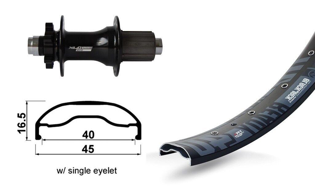 XLC 27,5″ Hinterrad Rodi Ready 40 Disc +  XLC Evo Boost 6-Loch 8-10-fach  discount
