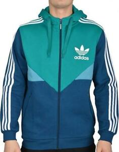 Adidas Originals Colorado Full Zip Hoodie Fleece Sweat Top Hooded