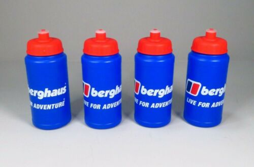 4 x Berghaus Outdoor Sports Water Bottles Quick Pull-Up to Drink Cycling Hiking