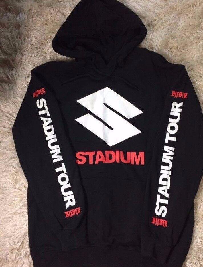 Justin Bieber Purpose Stadium Tour Hoodie Sweatshirt L neu schwarz H&M