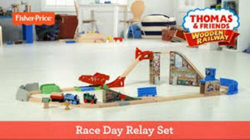 FisherPrice Wooden Railway Race Day Relay Set Thomas the Train