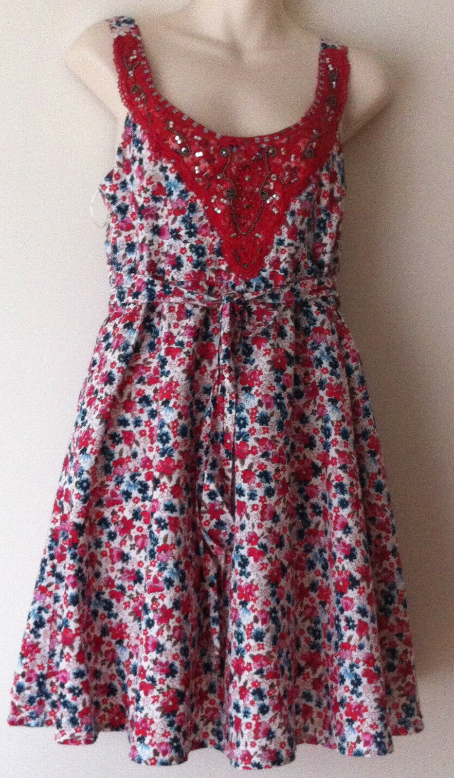 eec15383d0 LADIES DRESS REDHERRING DEBENHAMS SIZE SUMMER DRESS 12 FLORAL ...
