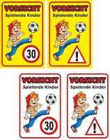 Schild Achtung Spielende Kinder 30x20, 40x30, 60x40cm Straßenschild Wetterfest