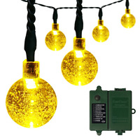 [rechargeable Battery Included]battery Operated Christmas String Lights With Tim