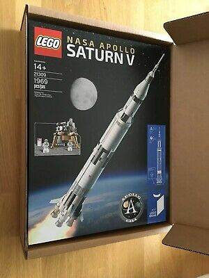 1969 Piece LEGO IDEAS #21309 NASA Apollo Saturn V RETIRED FACTORY SEALED NEW