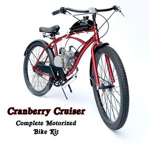 Cranberry cruiser motorized 66cc engine cruiser bicycle kit image is loading cranberry cruiser motorized 66cc engine amp cruiser bicycle solutioingenieria Choice Image