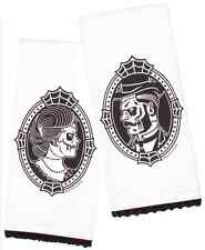 Tea Towel set of 2 His and Hers wedding zombie victorian cameo tattoo kitchen