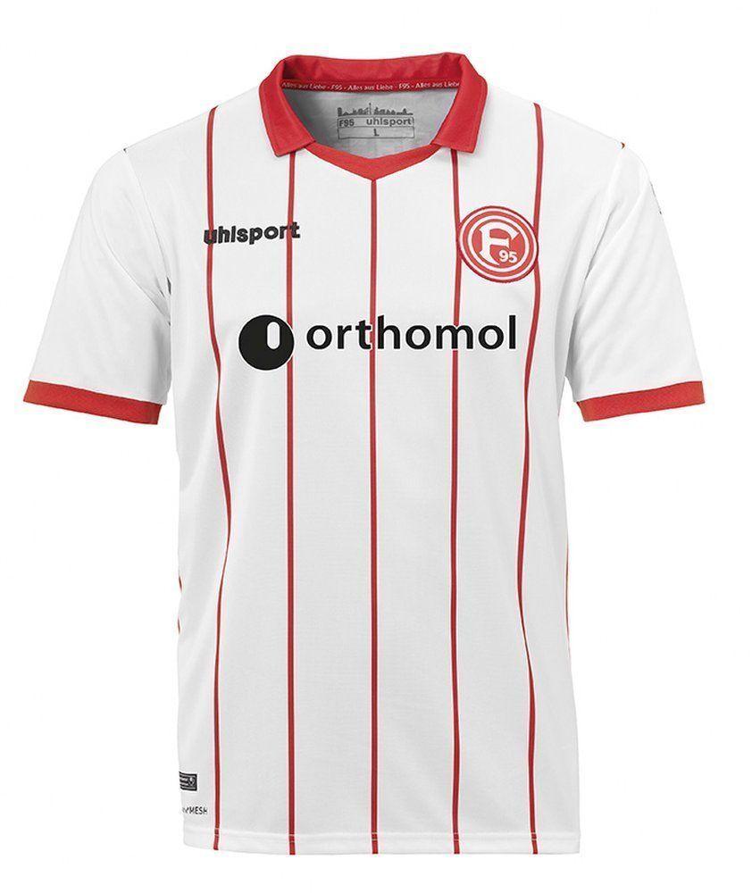 Uhlsport Calcio Da Uomo Fortuna Düsseldorf F95 HOME JERSEY SHIRT 2017 2018 Bianco