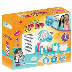 Details About 3 In 1 Diy Lip Balm Kit Make Your Own Gloss Lush Fruity Flavours Kids Lipstick