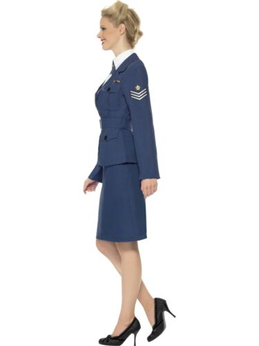 Ladies WW2 40s Royal Air Force Captain Fancy Dress Costume New by Smiffys