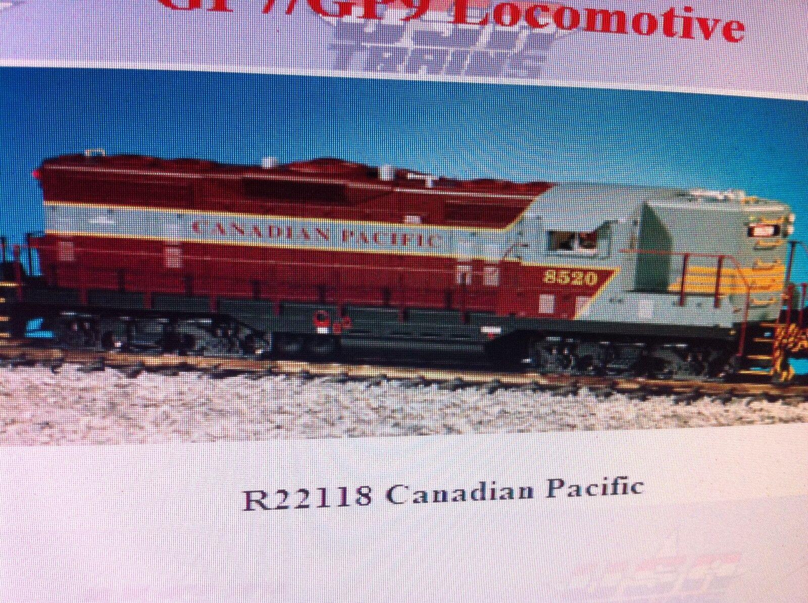 USA Trains GP7-9 Escala G Locomotora Diesel R22118 Canadian Pacific GP9-mar GRY
