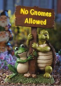 lighted gnome sign turtle frog garden statue outdoor lawn ornament, Garden idea